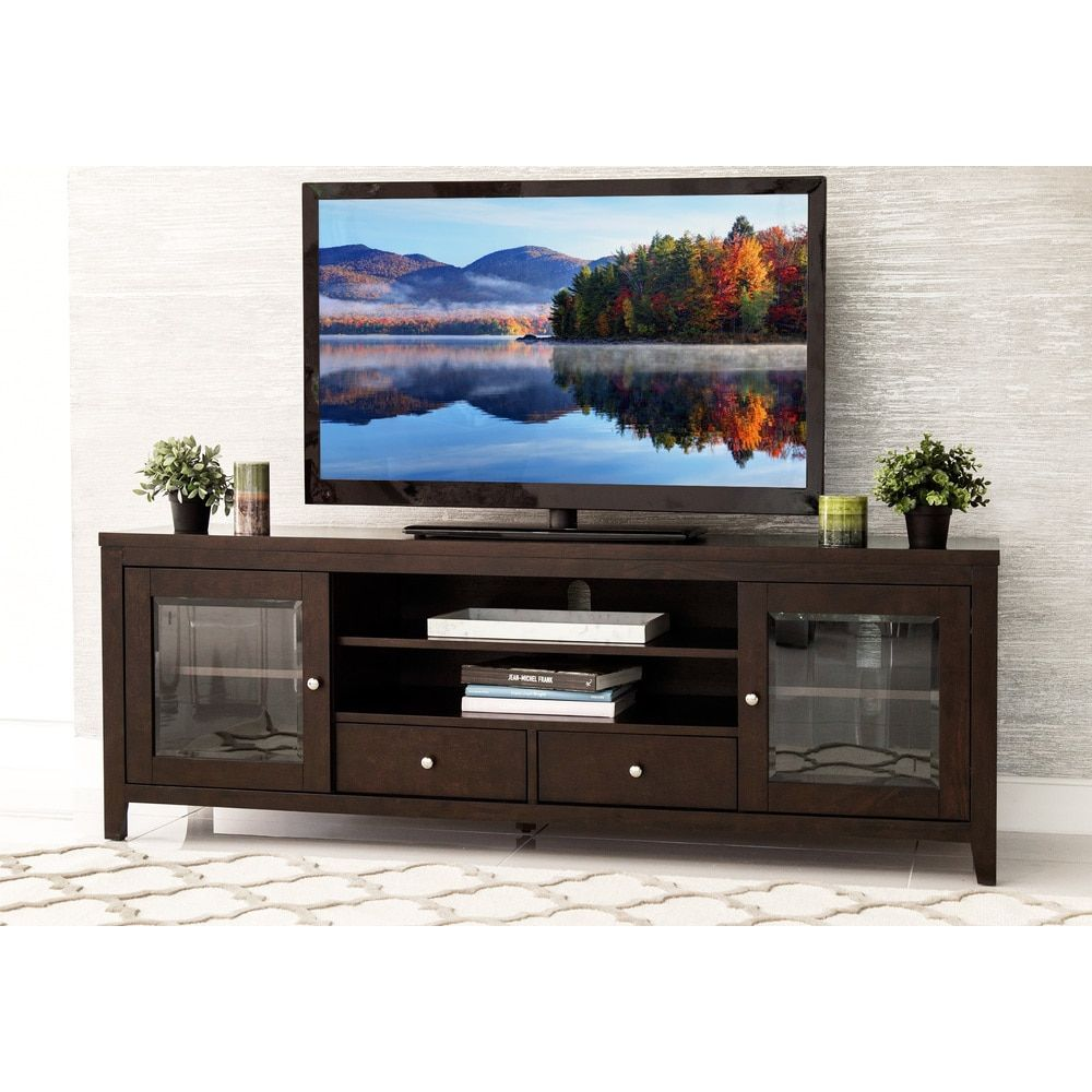 Abbyson Living Charleston Solid Wood 72 Inch Tv Console Furniture