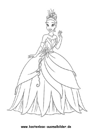Ausmalbild Prinzessin Mit Schonem Kleid Malvorlage Prinzessin Ausmalbilder Prinzessin Frosch Malvorlagen