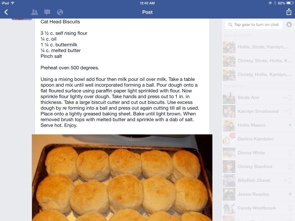 Cathead Biscuits Recipes Biscuit Recipe Cat Head Biscuits