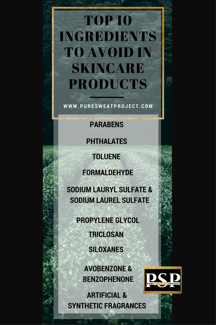 TOP 10 Ingredients to avoid in skincare products. These