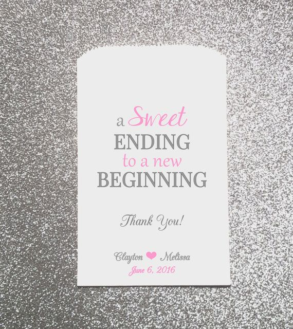 A Sweet Ending Wedding Candy Bag Wedding by ForeverYoursDezigns