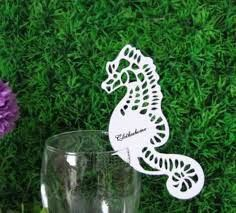 Name cards seahorse