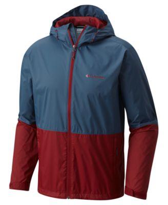 eaaf64ee Columbia Men's Roan Mountain Colorblocked Rain Jacket - Soft Metal, Azul  Ginkgo XXL