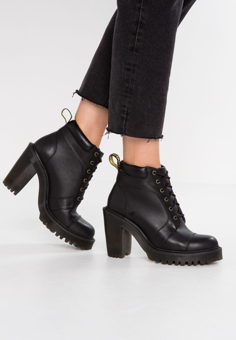 AVERIL LEATHER HEELED ANKLE BOOTS | Dr