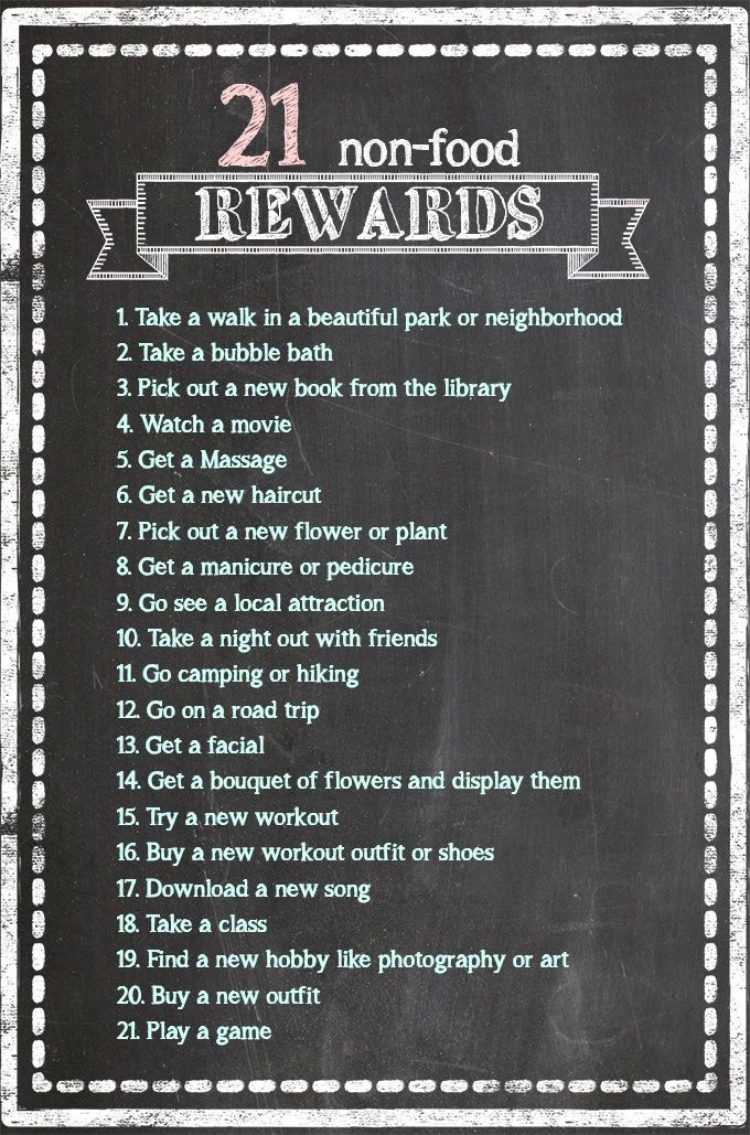 21 Non-Food Rewards to Celebrate Weight Loss & Fitness ⋆ Sprinkle Some Fun