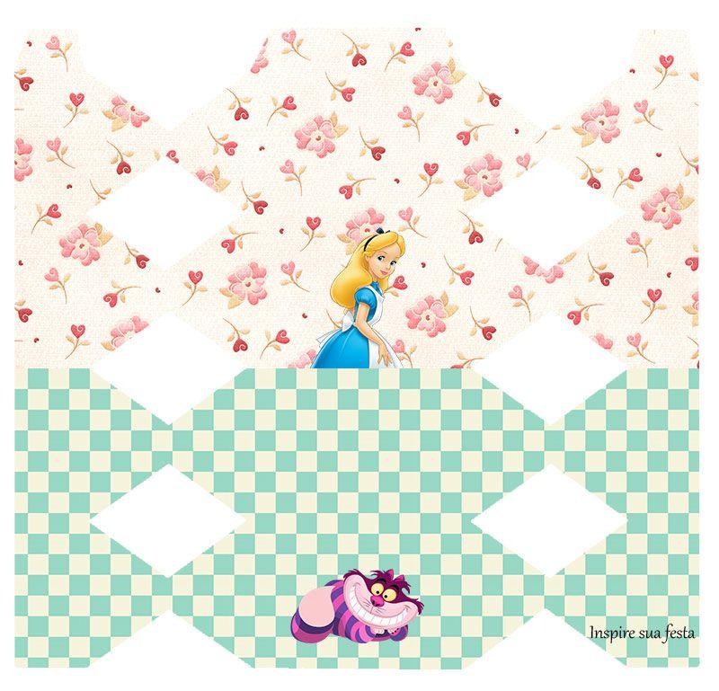 Caixa De Bala Personalizada Gratuita Alice No Pais Das Maravilhas