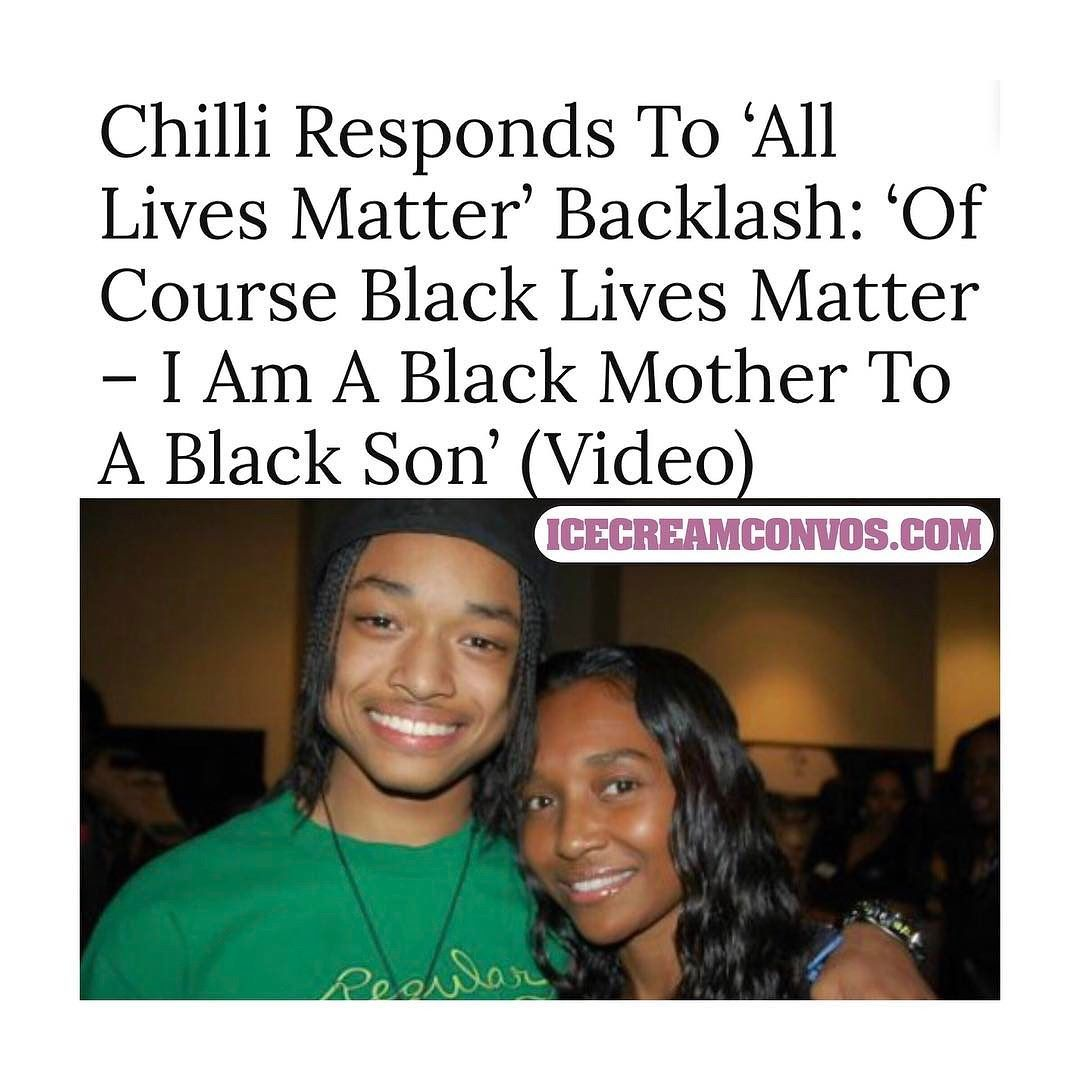 Get the full scoop and #Chilli's official statement @ IceCreamConvos.com or the ICC app! Link to site in bio #TLC #TLCArmy #BlackLivesMatter #AllLivesMatter #ForTheRecord #IceCreamConvos