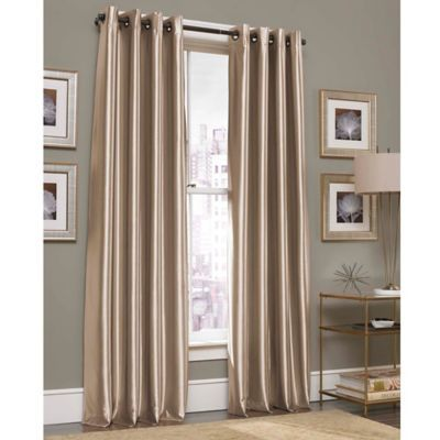 grommet top window curtain panel in mink from bed bath & beyond