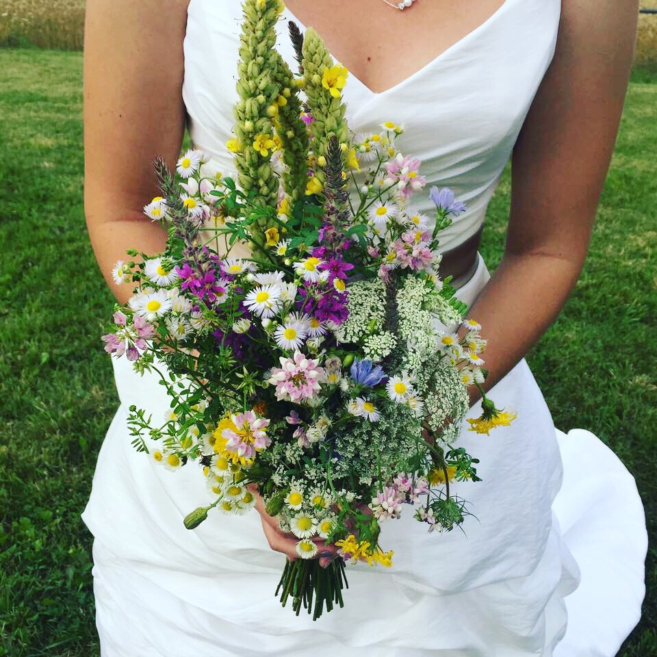 Yellow Wedding Flowers, Wildflower Wedding