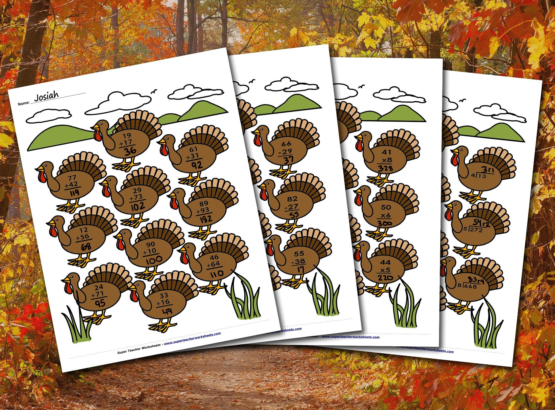 Thanksgiving Math Thanksgiving Worksheets Thanksgiving Math Thanksgiving [ 1662 x 2250 Pixel ]