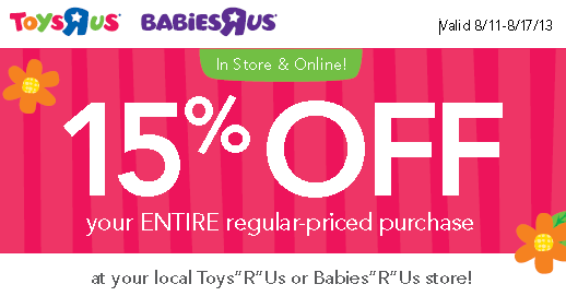 photo regarding Babies R Us Coupons Printable identified as 15% off your comprehensive every month priced get at Infants R Us