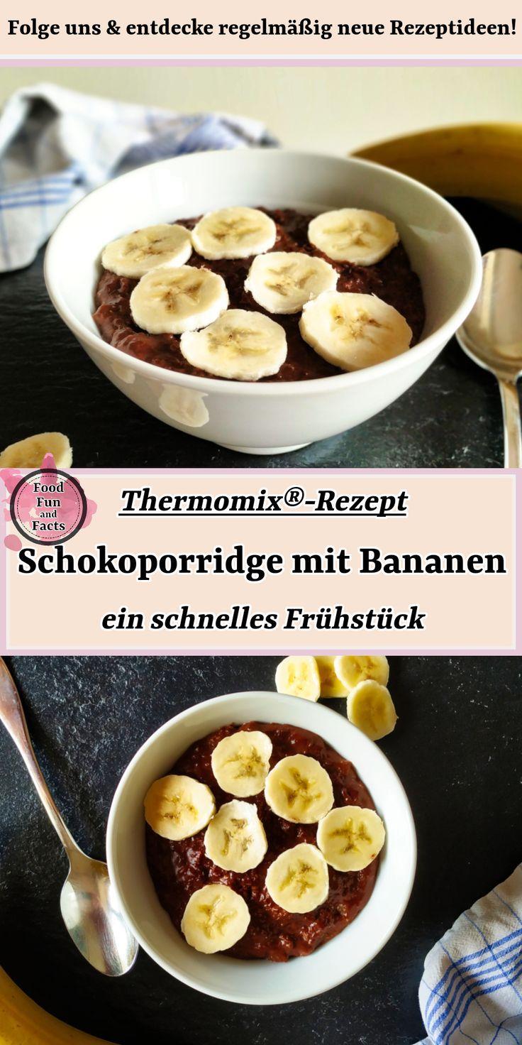 Schokoporridge mit Bananen – ein schnelles Frühstück | Thermomix-Rezept