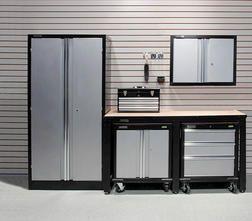 Performax Steel Storage System From Menards 695 00 Storage Cabinets Storage Garage Storage
