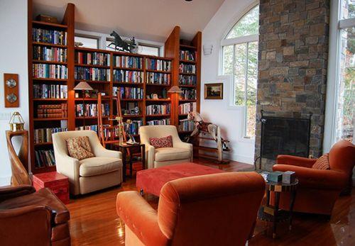 Home Library Design Conventional. #homelibrary #librarydesign #homelibraryideas