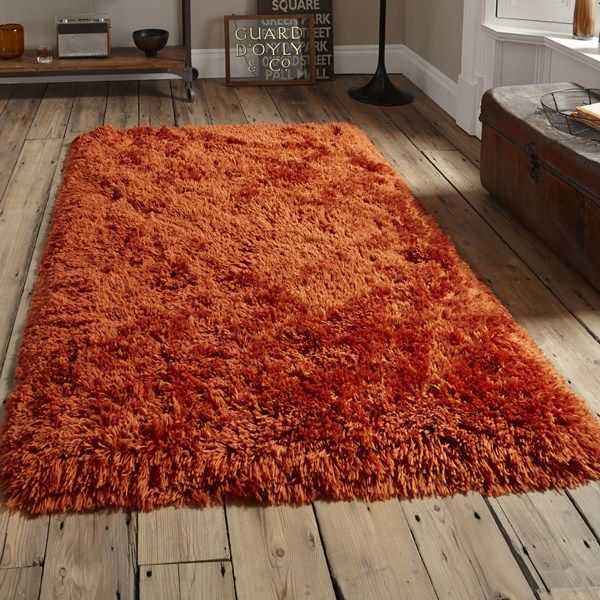 Polar Pl95 Shaggy Rugs In Terracotta Online From The Rug