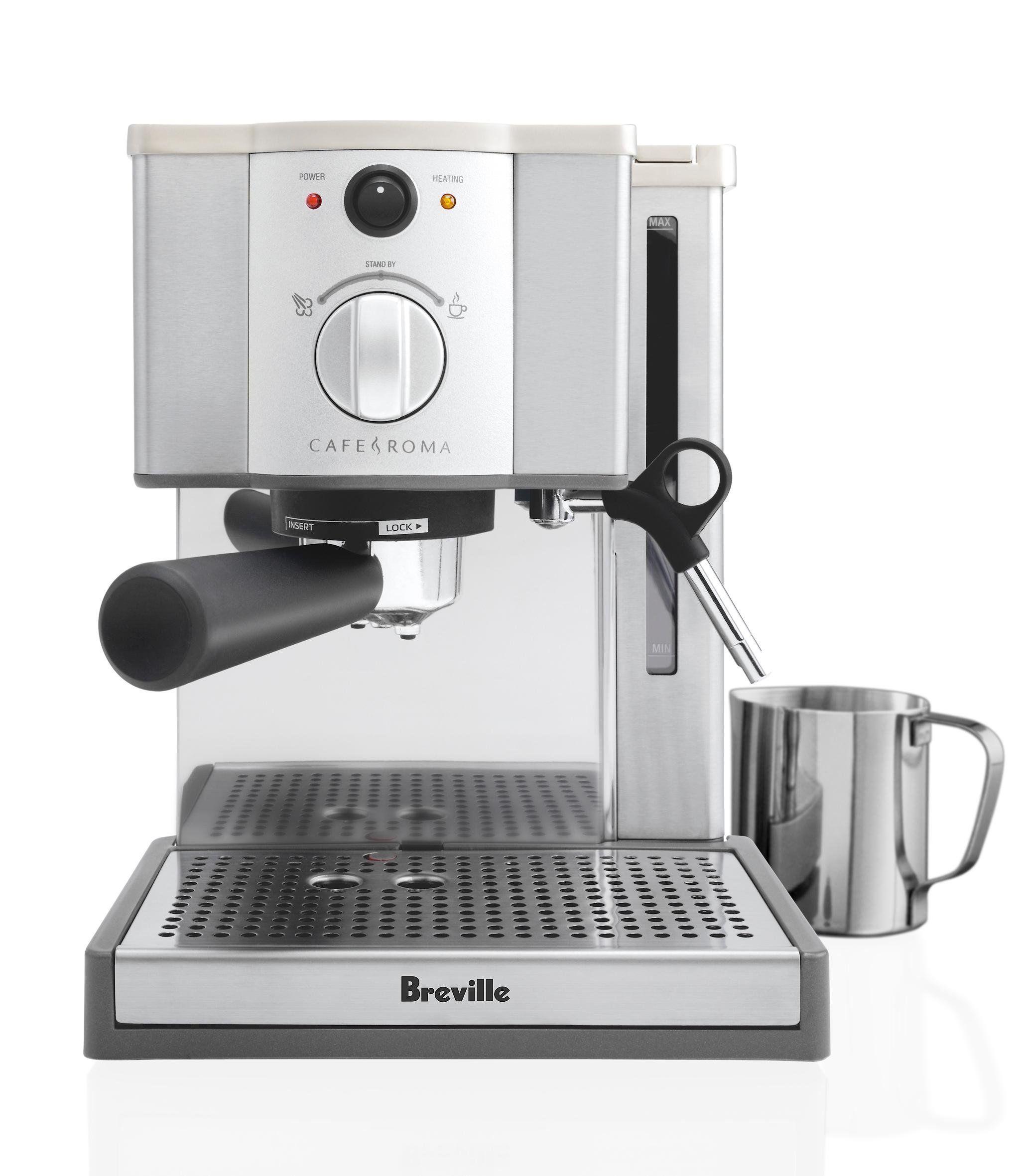 Breville café roma espresso machine espxl amazon kitchen