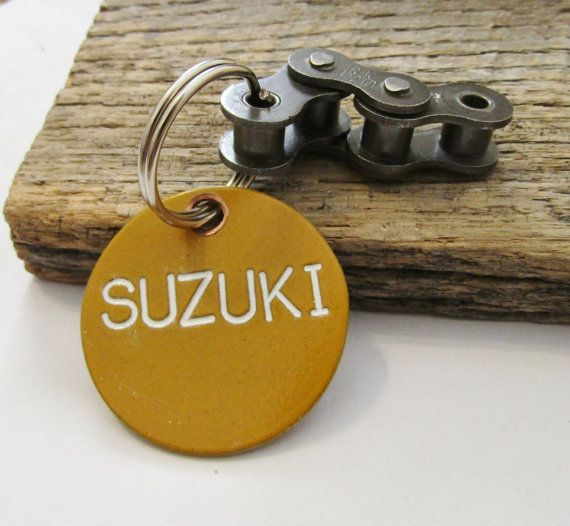 Personalized Suzuki Keychain Biker Gift For By
