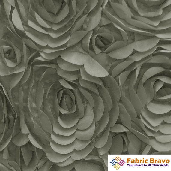 Silver Grey 60 Wide Premium Satin Rosette Petal by FabricBravo, $10.99