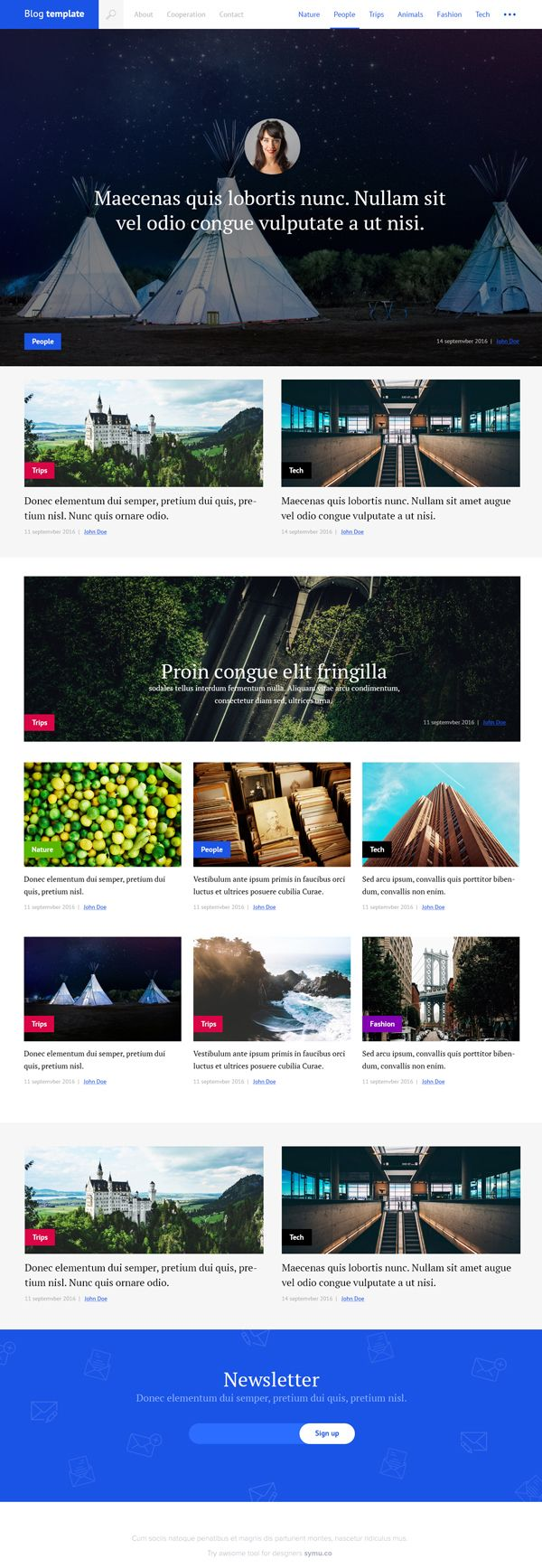 Free Blog PSD Template #freebies #webtemplates #psdtemplates ...