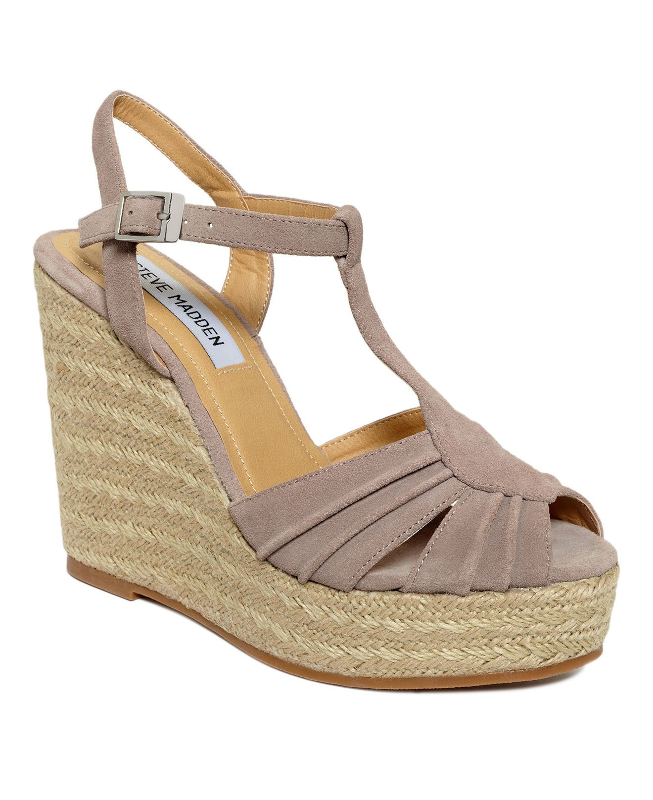 2f5a180ef2de Steve Madden Women s Mammbow Wedge Sandals - Sandals - Shoes - Macy s