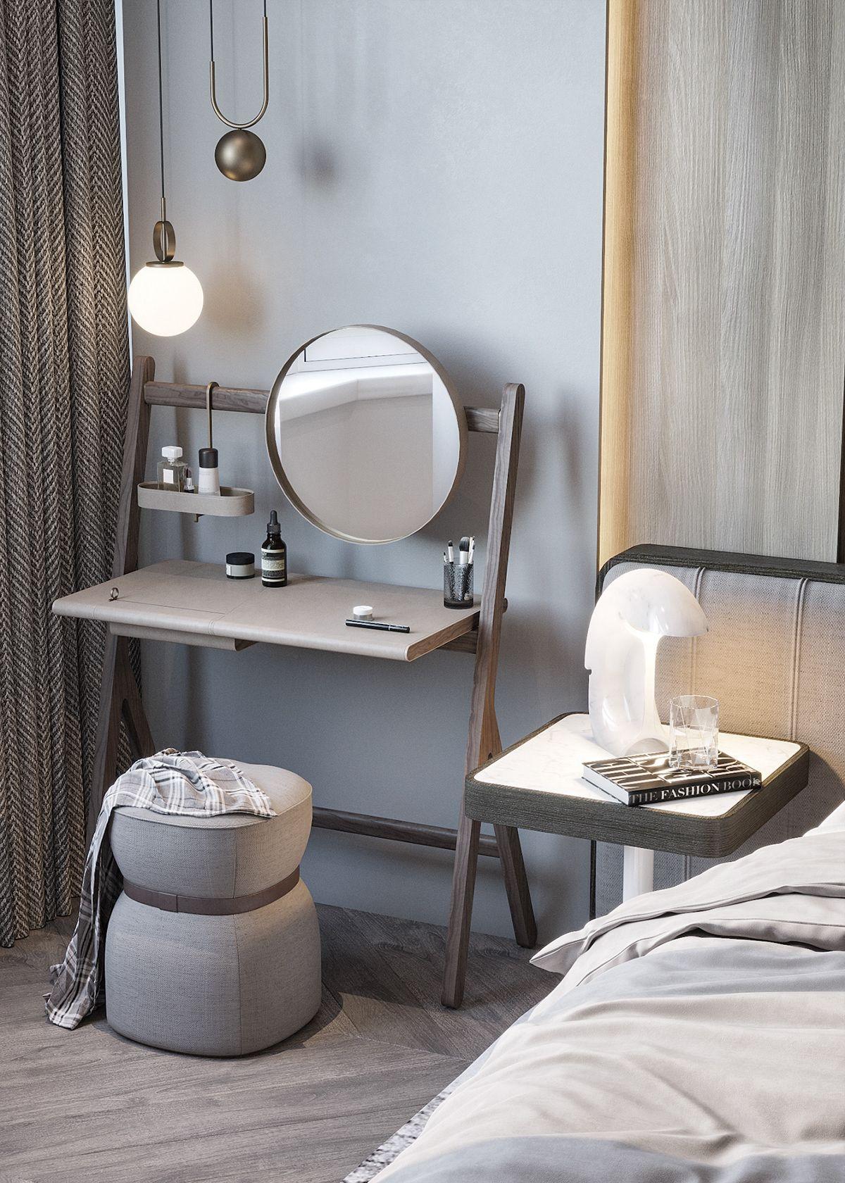 Bedroom visualization on Behance Pomysły na mieszkanie