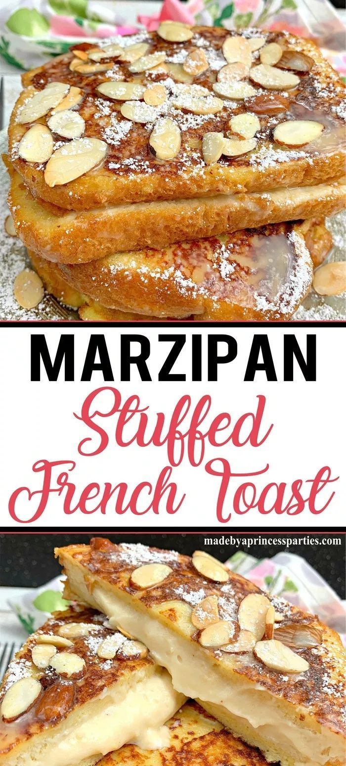 Photo of Marzipan Stuffed French Toast Recipe with White Chocolate Sauce