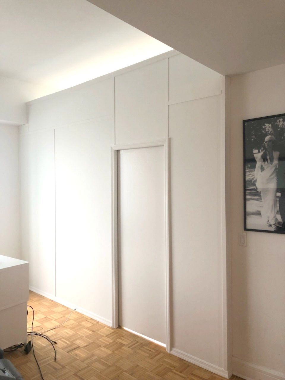 Straight Temporary Wall With Pocket Door Call Us For All Your