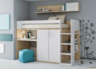Literas con escritorio debajo dormitorios juveniles habitaciones infantiles y mueble juvenil - Literas con escritorio debajo ...