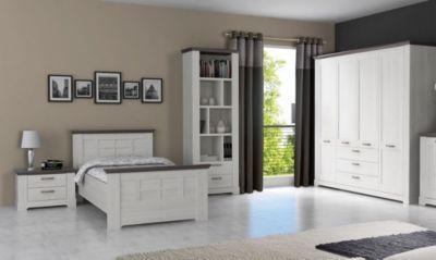 Schlafzimmer Pinie ~ Schlafzimmer mit bett cm schneeeiche pinie grau jetzt
