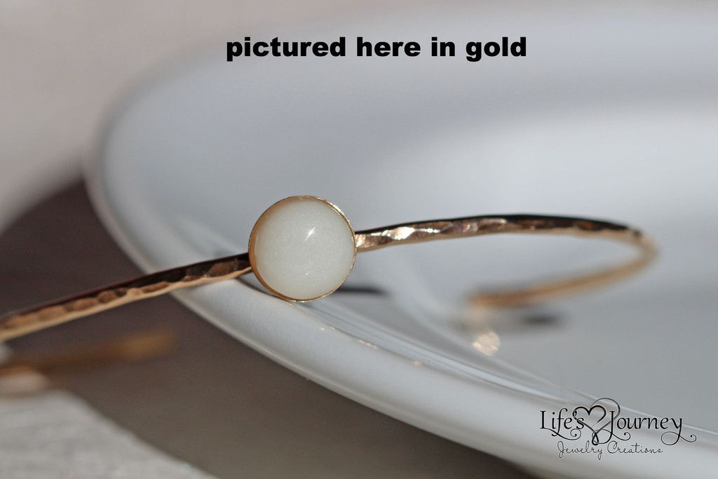 Hammered Cuff Bangle - Version A Rose Gold