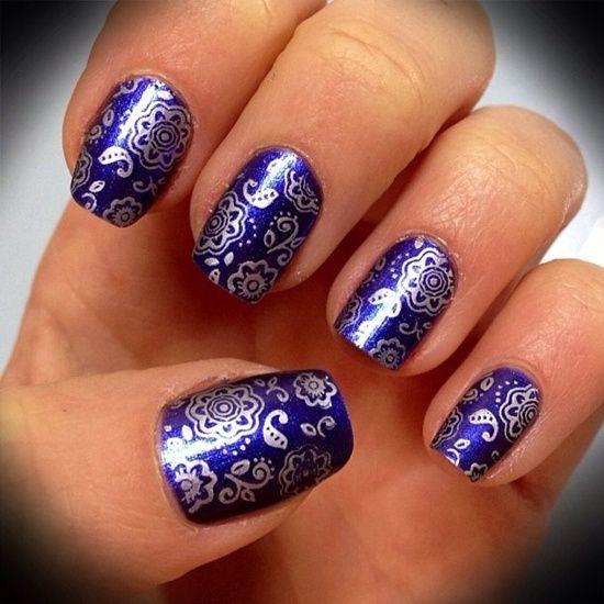 Картинки по запросу раскраска ногтей | Синие ногти, Нейл ...