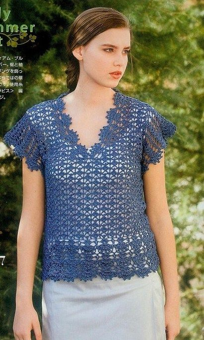 Crochet Blouse Crochet By Yana Knitt And Crochet 2 Pinterest