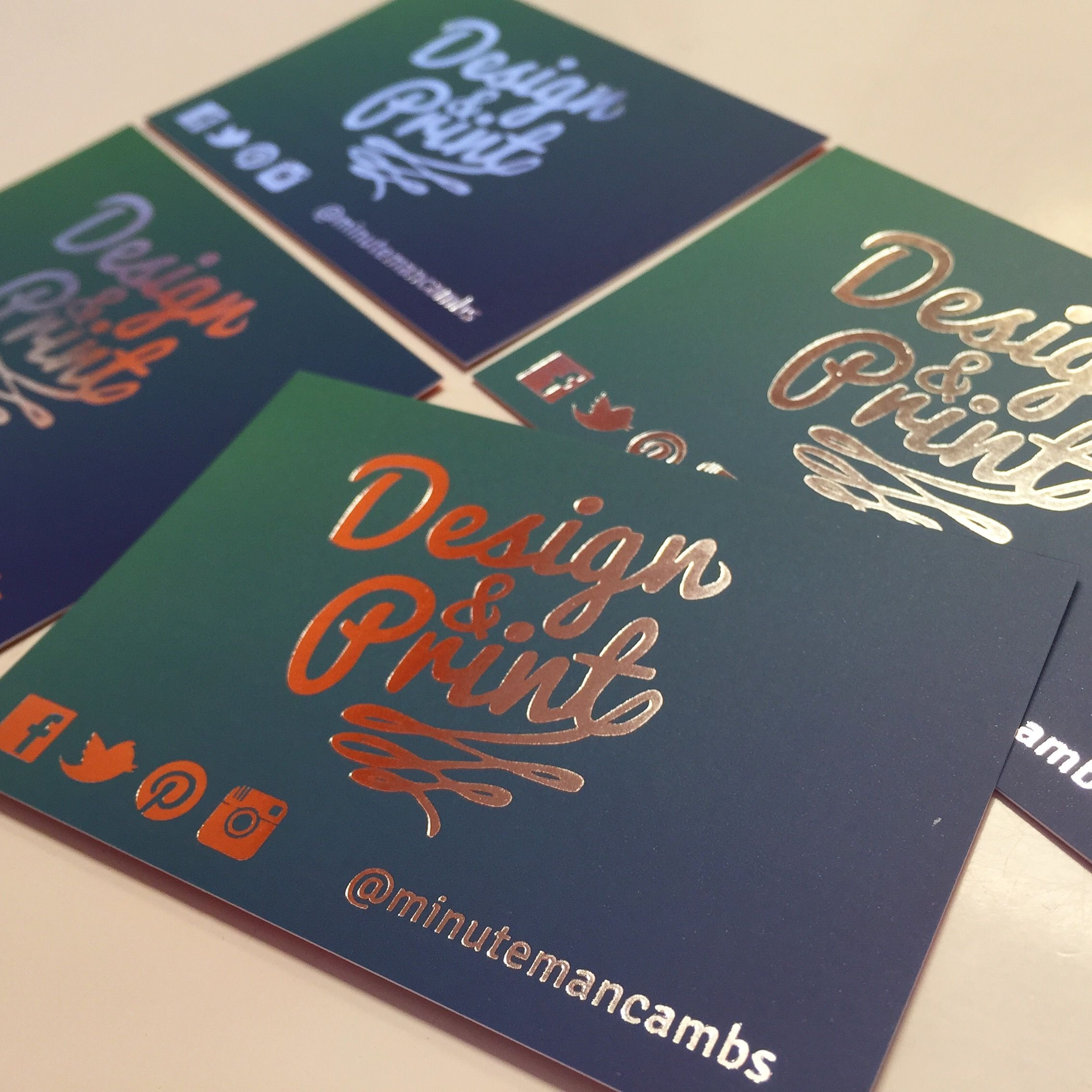Digital Foiling Silver Foil Graphic Designer Business Cards For Minuteman Press Graphic Design Business Card Business Card Design Examples Of Business Cards