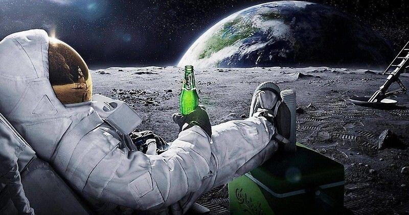 Space Beer Poster By Jaden Veiga In 2021 Sci Fi Wallpaper Astronaut Wallpaper Full Hd Wallpaper