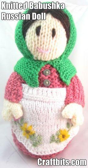 Babushka Russian Doll - Spring   knitted/crochet toys ...