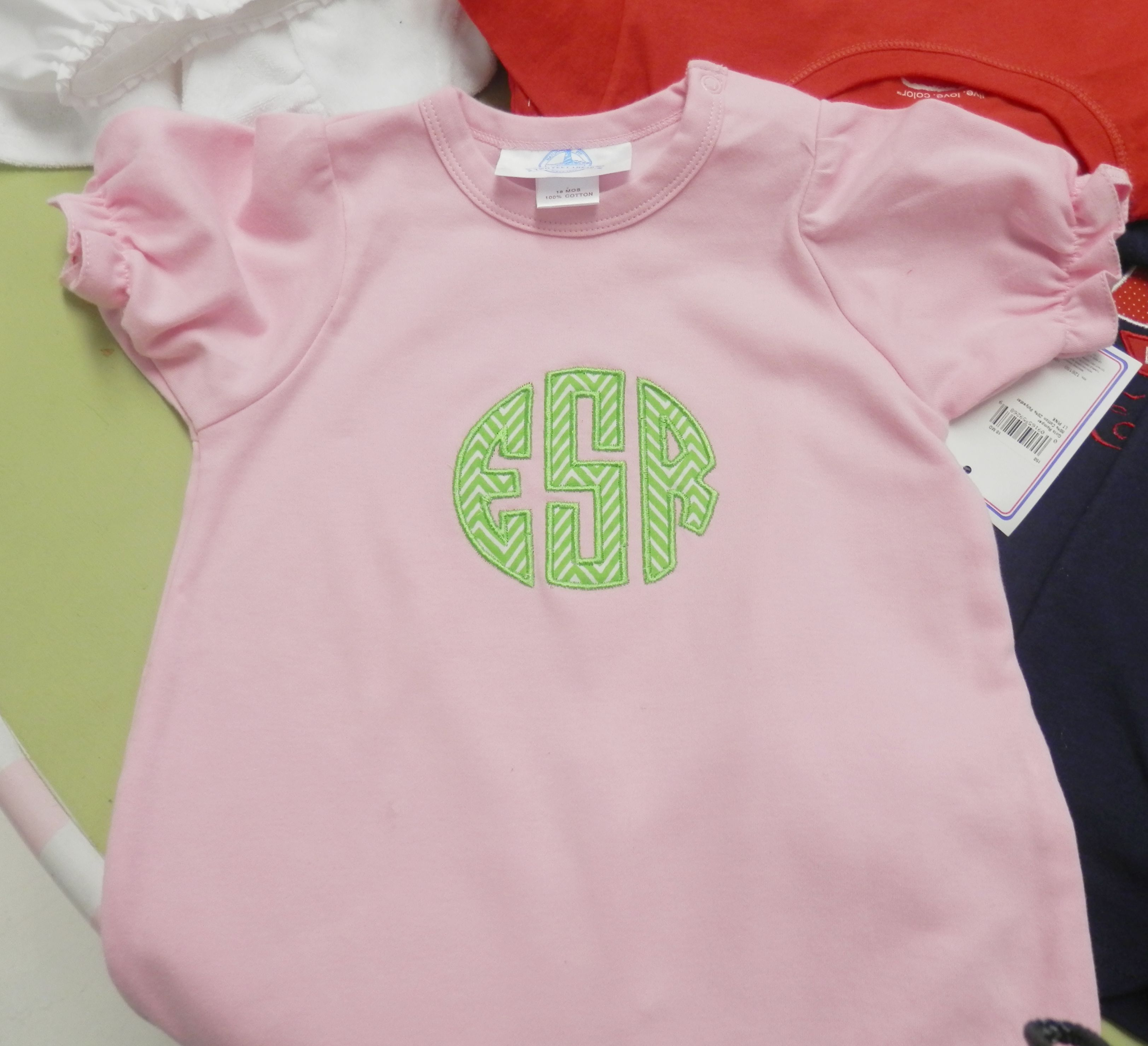 Adorable monogrammed onsie for the little miss!