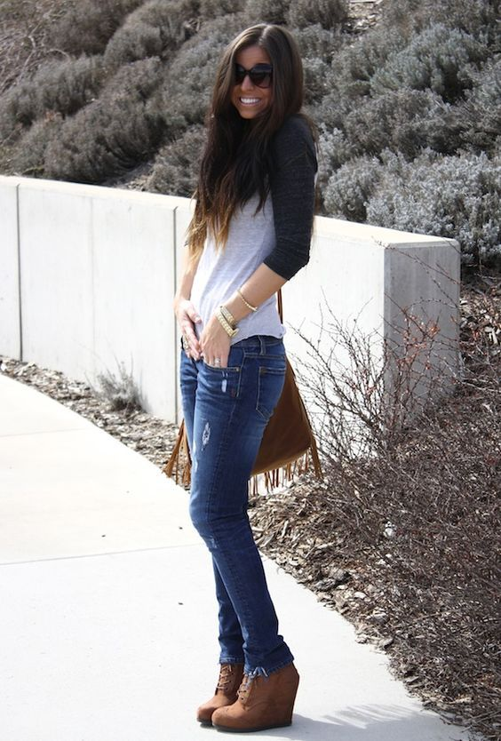 10 Gorgeous Outfits With Wedge Heels Stylish Winter