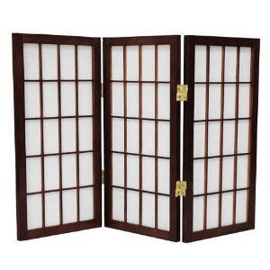 Oriental Furniture 2 Feet Window Pane Desktop Japanese Shoji Privacy