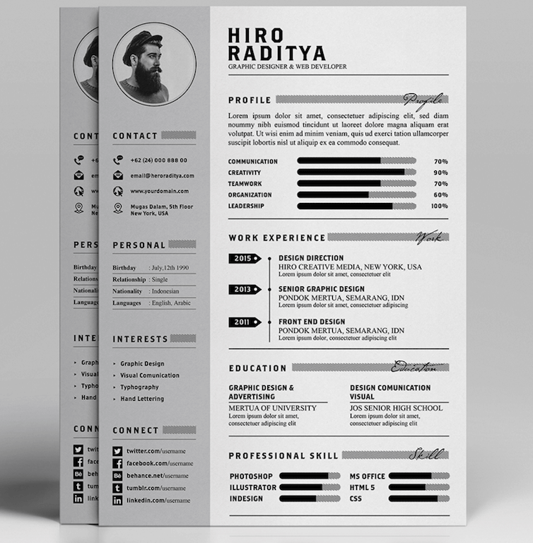 free resume letter portfolio template by angga baskara resume