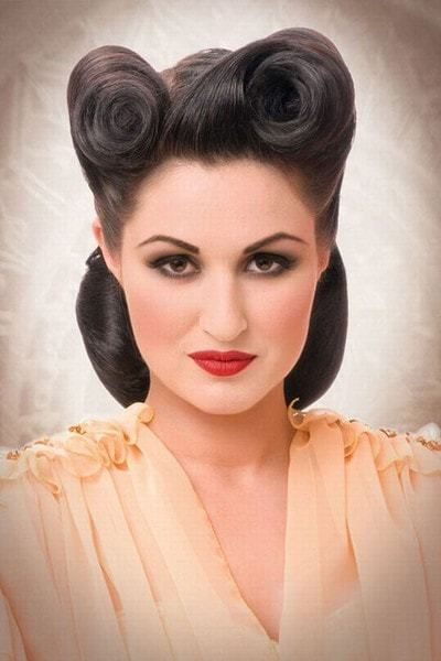Women Curly Hair For Rockabilly Hairstyles Vintage Hairstyles Rockabilly Hair 1940s Hairstyles
