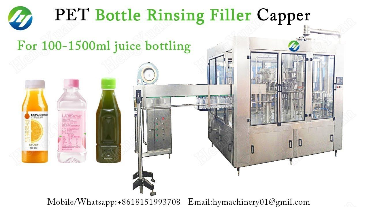 Automatic PET Bottle Rinsing Filler Capper | Juice Bottling Machine