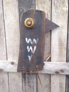 Folk Art Crow OOAK Outsider Rustic Outsider Reclaimed Sculpture Wood A Gambrel | eBay