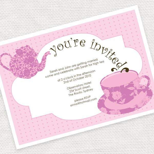 Invitations Free  Free Printable Girls Tea Party Invitations Free