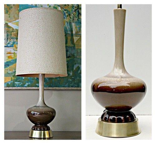 Mid Century Reading Lamp: 60's Mid Century Modern Haeger Retro Table Lamp Ceramic