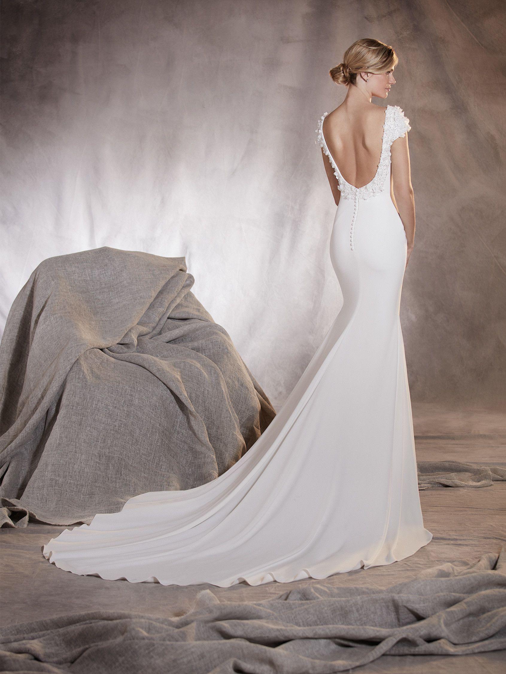 Agua - Brautkleid im Meerjungfrau-Stil mit Blumendetail am ...