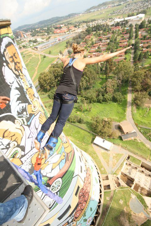 Orlando Towers in Soweto, South Africa My first bungee