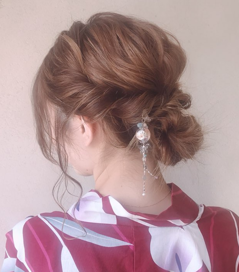ボード ヘアセット 浴衣 着物 振袖 袴 髪型 のピン