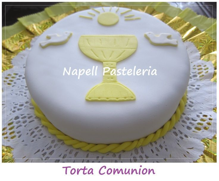 tortas de comunion faciles de decorar