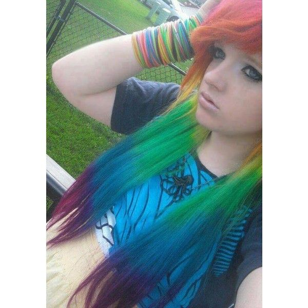 Gallery For > Emo Guys With Rainbow Hair found on Polyvore