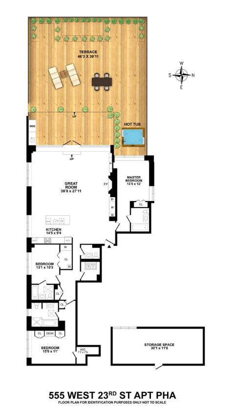 New York Knick Joakim Noah Nabs 5 8m Chelsea Penthouse Floor Plans Home Nyc Pent House
